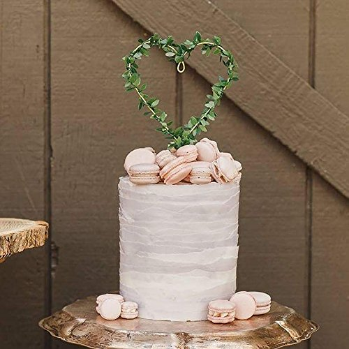 HEART WREATH Wedding Cake Topper Special Events Decoration