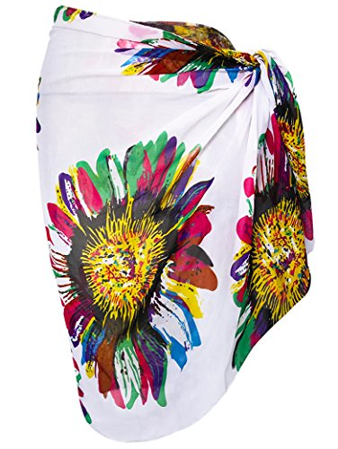 Oryer Womens Beach Bikini Sarong Cover up Pareo Swimsuit Sheer Swim Sarong - Cover Up Sarong Swimsuit Sheer