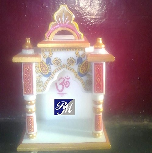 RM 12Inch Height Marble Temple For Home Office Hotels Puja Place Gift and Decor