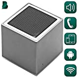 Bluetooth True Wireless Portable Speaker & Receiver   Can Be Paired   HD Crystal Clear Stereo, Noise Canceling, Balanced Bass   iPhone & Android Compatible, Powerful Built-In Battery & Mic