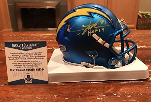- Ladainian Tomlinson Autographed Signed San Diego Chargers Blaze Mini Helmet HOF 17 Signature - Beckett Authentic