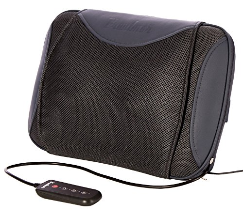 Bruntmor Shiatsu Cordless 3-D Kneading Chair Heated Massager with Wired Remote, 4 Pound