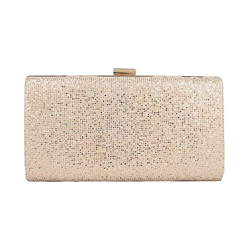 GLITTER WEDDING SHIMMER PARTY HOTSTYLEZONE BAG EVENING CLUTCH BAG BOX Champagne PROM LADIES SPARKLY BHSHWdwq