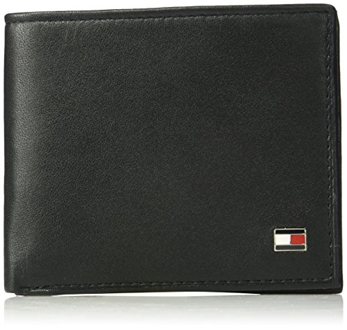 Black Wallet - Tommy Hilfiger Men's RFID Blocking 100% Leather Passcase Wallet, Oxford Black, One Size