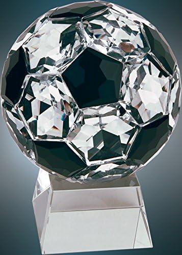 111/ 4インチクリスタルサッカーボールのクリアベース賞/ Trophy Free Engraving
