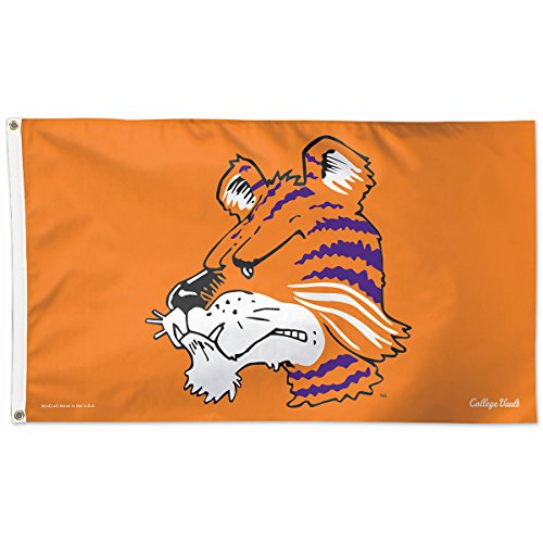 Logos University Clemson (University of Clemson Flag 3x5 Vault Throwback Logo Tigers Deluxe Grommets Reinforced Flyend ACC)