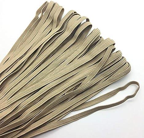 Jammas 5yards//lot 1//4 6mm Elastic Ribbon Multirole Thickening Satin Elastic Band Trim Sewing Spandex Lace Trim Color: White