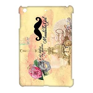 Custom Your Own Personalized Mustache Eiffel Tower Ipad Mini Case, Snap On Hard Protective Mustache Ipad Mini Case Cover