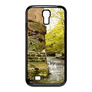Okaycosama Building Waterway Samsung Galaxy S4 Case for Boys, Phone Case for Samsung Galaxy S4 [Black]