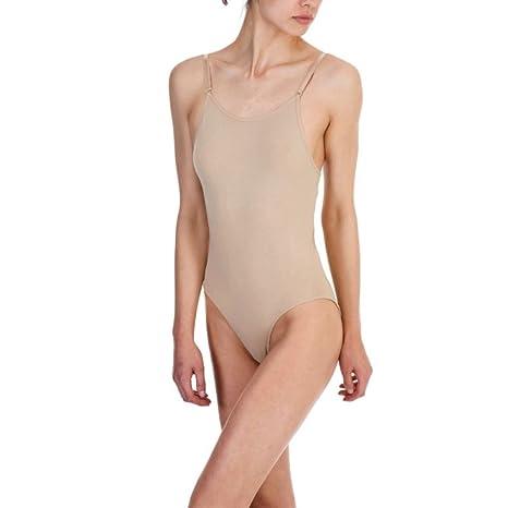 066ac7b9f3ebe SILKY DANCE Seamless Camisole Leotard Undergarment Underlayer Nude Flesh  (Small)