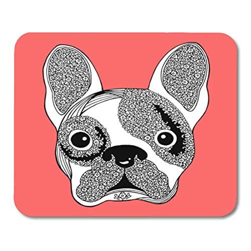 Semtomn Gaming Mouse Pad Bull French Bulldog Sugar Skull Frenchie Cute Dog Abstract 9.5