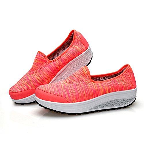 Le Sneakers Da Donna Indossano Morbide Scarpe Eleganti Da Btrada Rosso