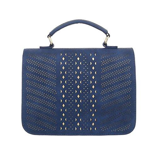 al Ital para hombro Bolso de mujer Azul Design Sintético AqqExO