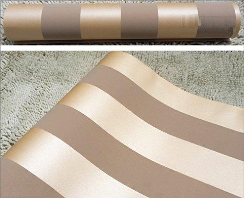 QIHANG European Modern Minimalist Country Luxury Stripe Wallpaper Roll for Living Room Bedroom Tv Backdrop Brown Color by QIHANG (Image #3)
