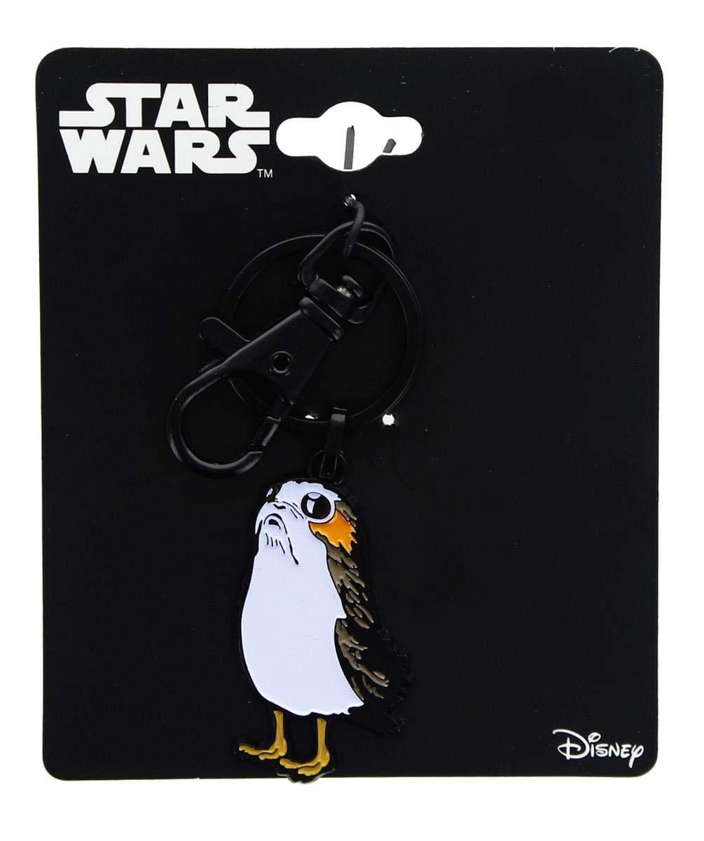 Official Star Wars Ep 8 Porg Enamel Character Keyring Keychain