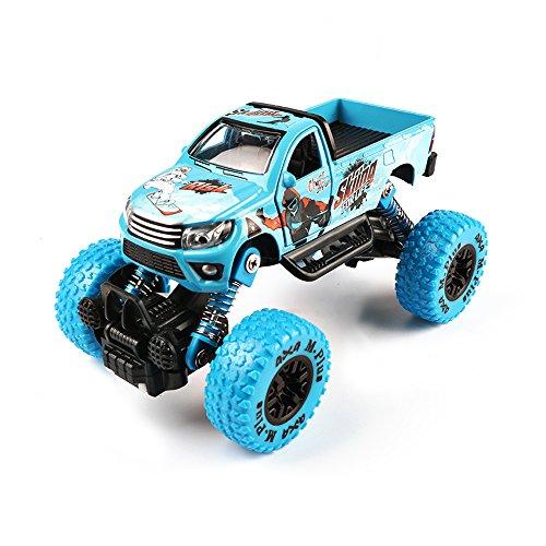 baidercorモンスタートラックおもちゃFriction Powered Carsブルー