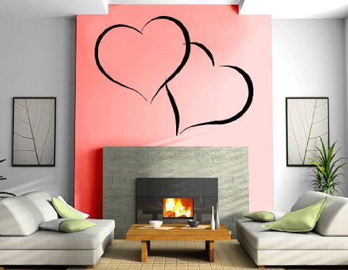 - A Top Decals Entwined Hearts Love Valentines Day Romantic Decorative Design Wall Mu
