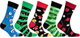 Socks n Socks Mens 5 Pair Luxury Cotton Sports Funny Socks