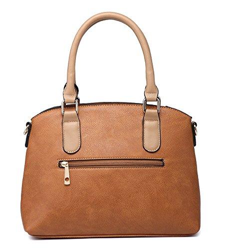 Shoulder Khaki London Craze Women For Leather Faux Bag xaw5qP