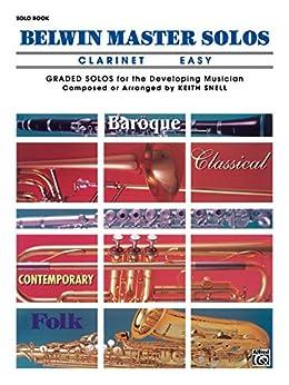 Amazon.com: Belwin Master Solos (Clarinet), Vol 1: Easy ...