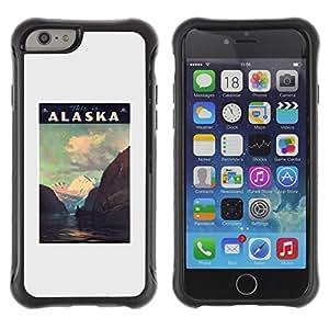Híbridos estuche rígido plástico de protección con soporte para el Apple iPhone 6 (4.7) - mountains winter USA state