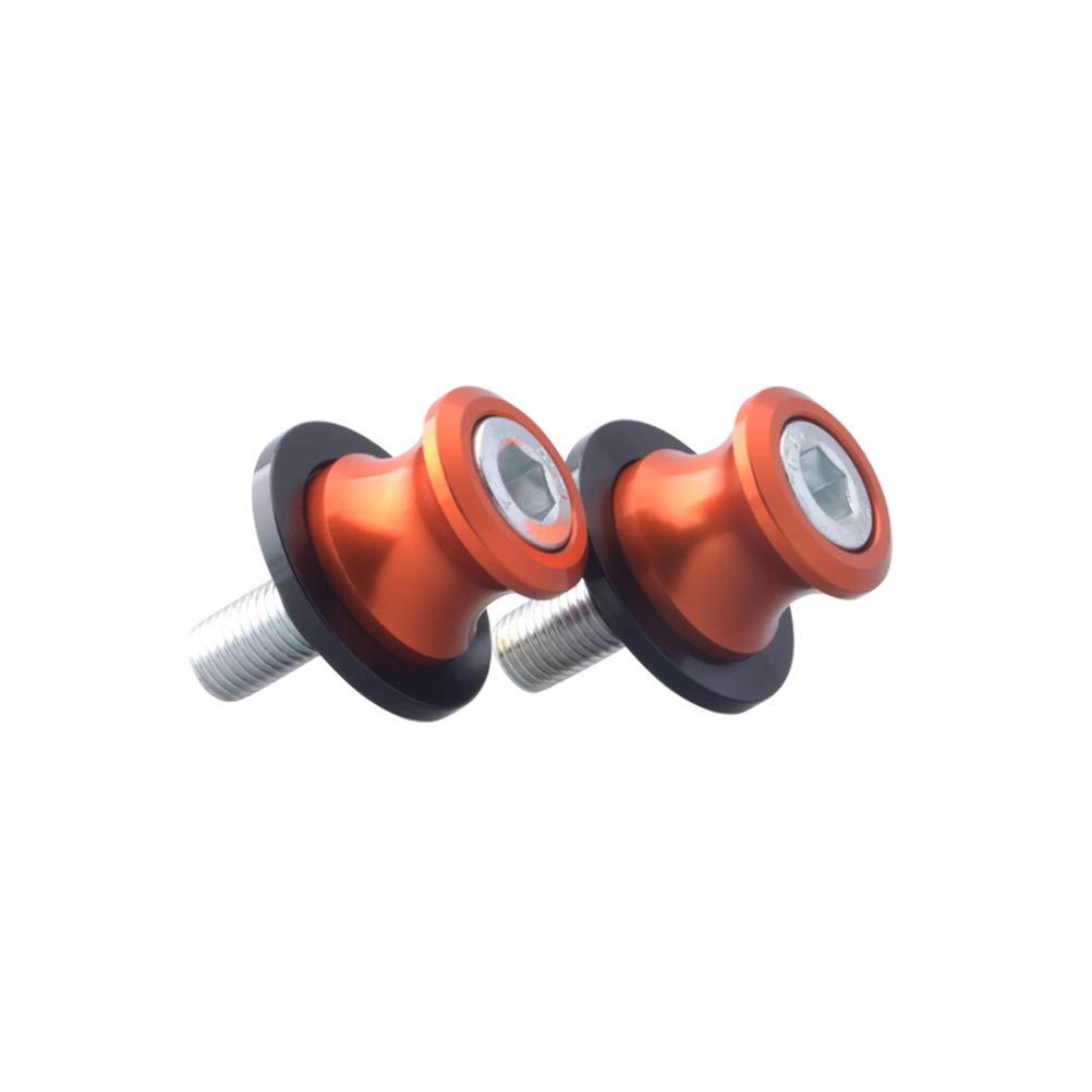 Vosarea 2pcs / Set M6 Modifica Vite Moto Set di Viti in Alluminio antiruggine (Arancione)