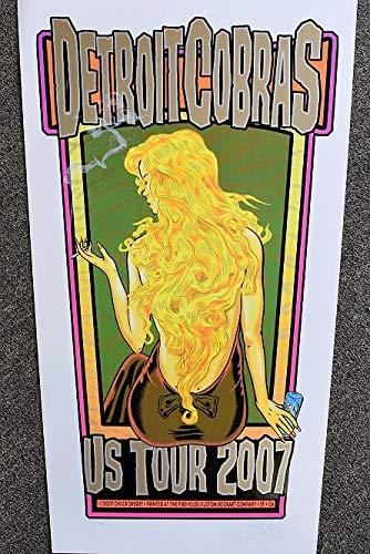 Detroit Cobras Concert Poster Chuck Sperry S/N U.S. Tour 2007