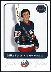 Hockey NHL 2001-02 Fleer Greats of the Game #72 Mike Bossy NY Islanders