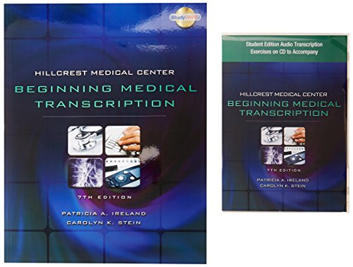 Bundle: Hillcrest Medical Center: Beginning Medical Transcription, 7th + All N' One Transcription Kit from Martel Electronics + Student Edition Audio Exercises on CD by Delmar Cengage Learning