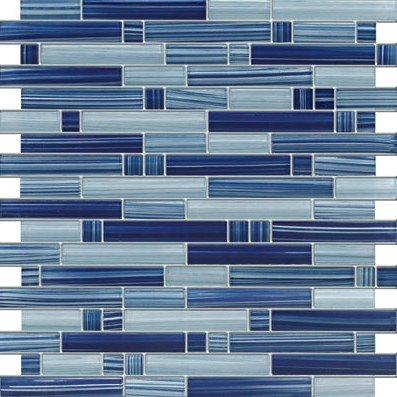Cobalt Blue - Blue Random Pattern Glass Tile (Cobalt Mosaic Blue)