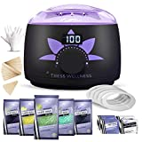 Home Waxing Kit Wax Warmer Hair Removal Waxing Kit - Professional at Home Waxing Kit - Wax Machine for Body Wax - Hard...