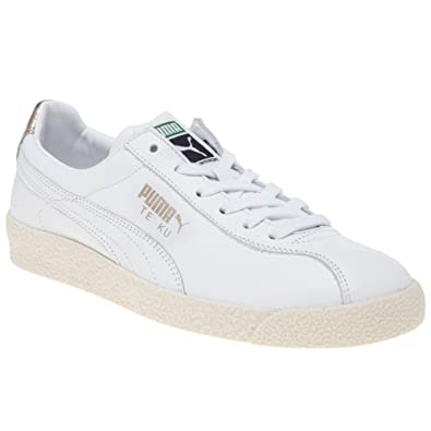 Puma Te Ku Leather Damen Sneaker Weiß: : Schuhe