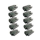 Premium Compatible Replacement 10Pk HP 05X (CE505X) Black Toner Cartridges Set for use in HP LaserJet P2055, P2055D, P2055DN, P2055X Series Printers.