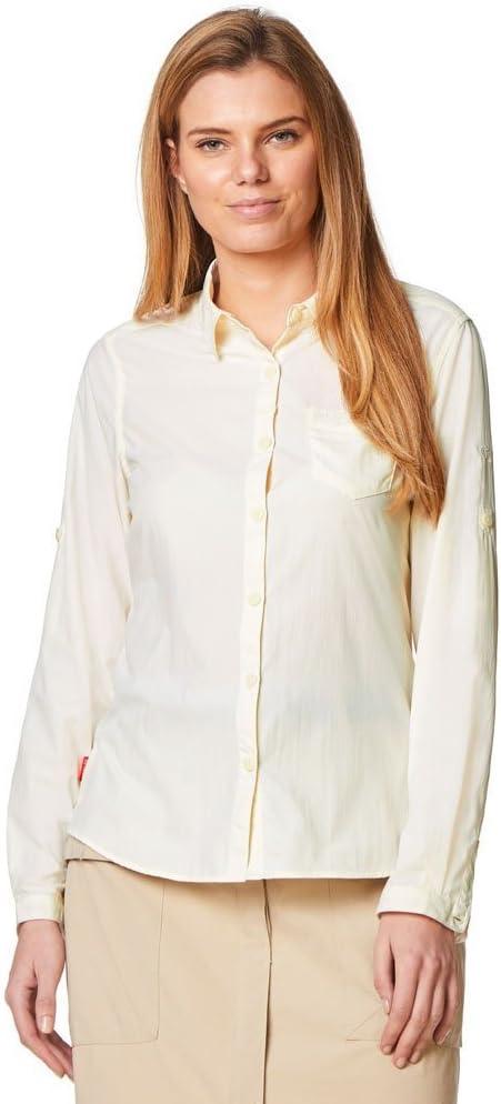 Craghoppers NosiLife Bardo Long Sleeved Shirt Women sea salt 2019 Longsleeve Shirt Sea Salt