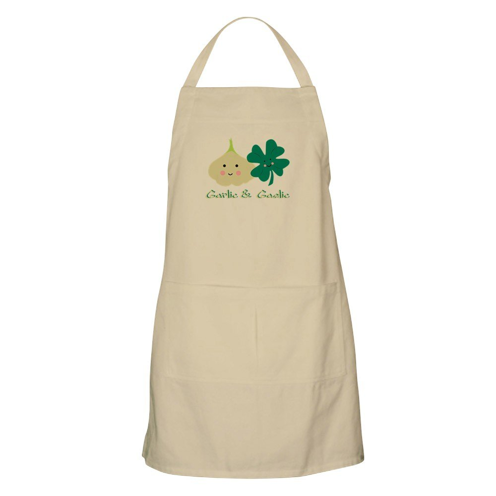 CafePress ガーリック&アンプ Gaelic エプロン グリルエプロン ベージュ 042231408340D7A  カーキ B073P7NCV3