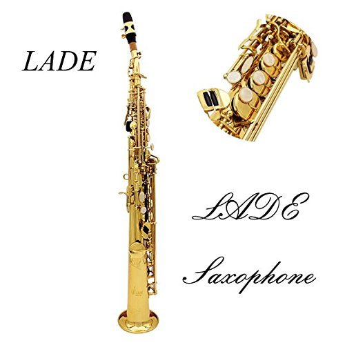 LADE Saxophone Bb Soprano Sax Paint Gold With Case & Accessories