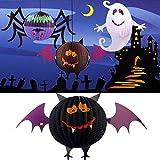 [Free Shipping] Funny LED Halloween Bat Lanterns Paper Lamp Home Garden Decorations // Halloween lámpara de papel linternas murciélago decoraciones divertidas LED huertos familiares