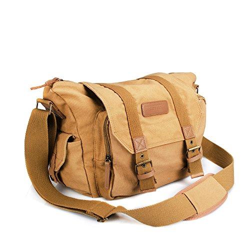 BESTEK Umhängetasche SLR-Kameratasche Regenschutz Staubschutz mit Innenfutter für Spiegelreflexkameras und Zubehör