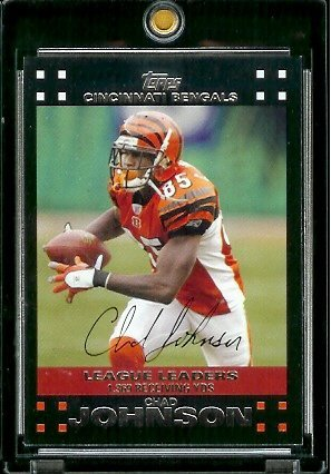 2007 Topps Football # 401 Chad Johnson LL - Cincinnati Bengals - LEAGUE LEADERS - NFL Trading Cards