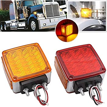 ECCPP 5x Amber Cab Marker Roof Top Clearance Light Replacement 1 Set Wiring Pack Switch Assembly Wire Harness For Truck Trailer Waterproof Semi-trailer