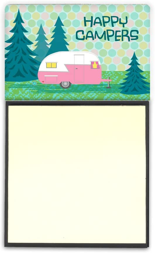 Caroline's Treasures VHA3004SN Happy Campers Glamping Trailer Sticky Note Holder, Large, Multicolor