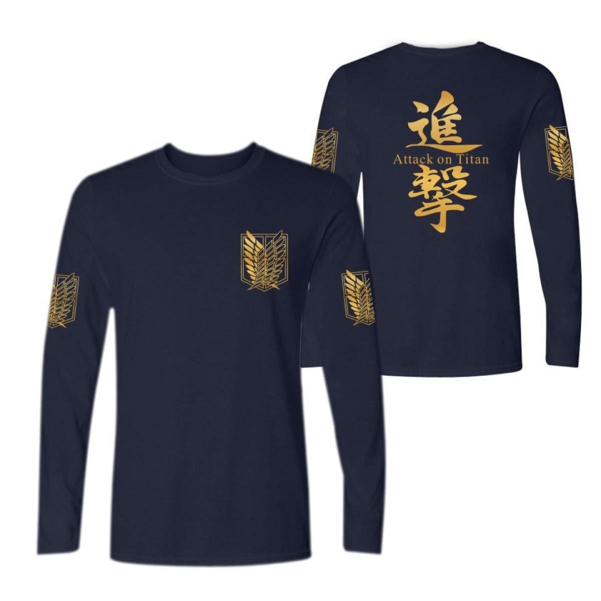 Flamenco Anime Attack on Titan Long Sleeve T Shirt Men Women ...