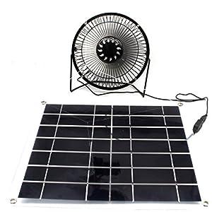 Solar fan 10W power for Cooling Cool Fan for Home Office Camping garten