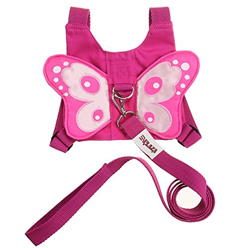 EPLAZA Baby Toddler Walking Safety Butterfly Belt Harness with Leash Child Kid Assistant Strap (a)