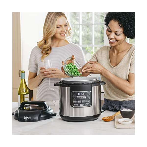 Ninja Instant, 1000-Watt Pressure, Slow, Multi Cooker, and Steamer with 6-Quart Ceramic Coated Pot & Steam Rack (PC101… 4