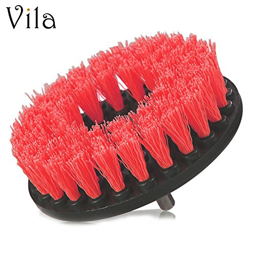 Drill Brush by Vila - Attaches to Any Drill - Effectively Removes Carpet Stains, Bathroom and Tile Grime - Save yourself Time and Energy with this cleaning tool