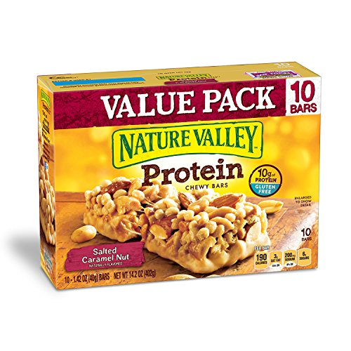 Nature Valley Chewy Granola Bar, Protein, Salted Caramel Nut, 10 Bars - 1.4 oz (Best Protein Granola Bars)