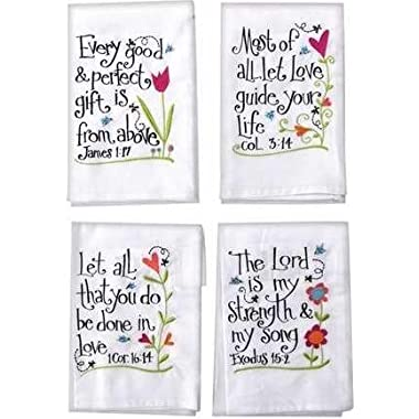 Manual Woodworkers & Weavers 93314 Hand Towel Every Good & Perfect Gift White - 16 x 28