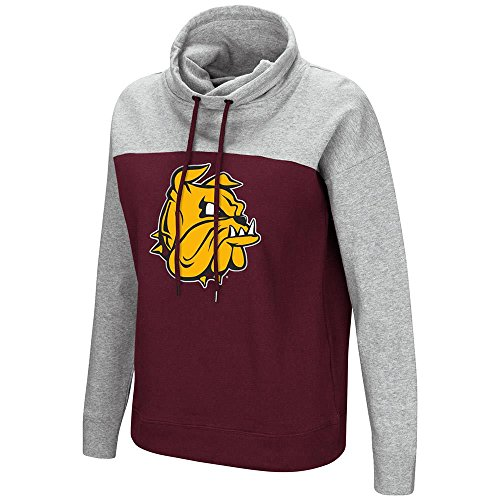 Colosseum Womens Minnesota Duluth Bulldogs Funnel Neck Pull-over Sweater - L (Duluth Bulldogs Jersey)