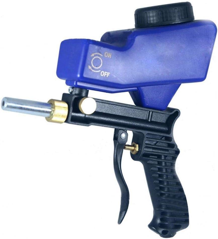 XHUENG Useful Portable Gravity Sandblasting Gun Pneumatic Sandblasting Set Rust Blasting Device Small Sand Blasting Machine (Color : Blue) Black